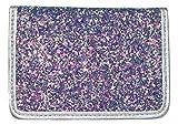 Birth Control Pill Case/Wallet - Glitter Silver Blue Purple - Cute and Discreet 4' x 3'