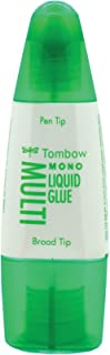 Tombow 62191 MONO Multi Liquid Glue, 0.88 Ounce, 1-Pack. Multi-Purpose Glue with Dual Tip Dispenser for Precise to Full Coverage Application