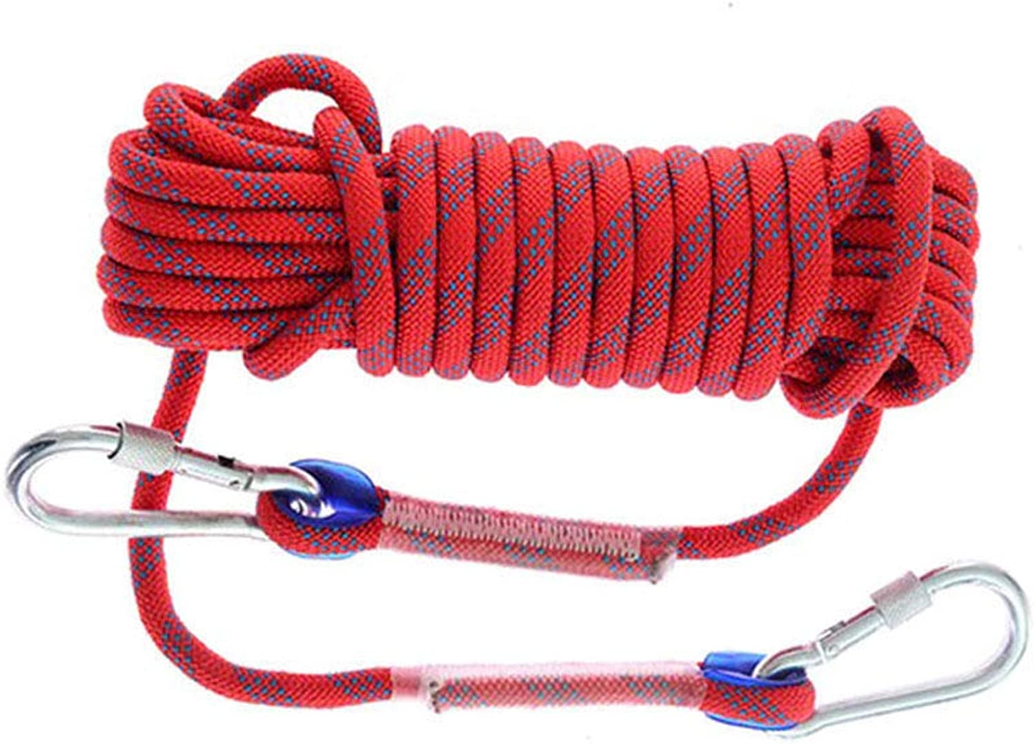 Climbing Rope Climbing Rope Escape Rope Outdoor Activity Accessories, Diameter 8 Mm Nylon Loading 800KG,10mRed