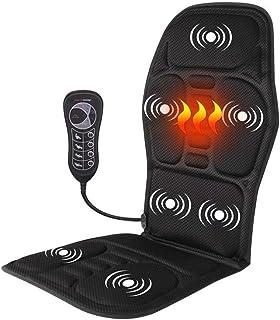 Calefacción Portátil Eléctrica Masajeador De Espalda Vibrante Silla Espalda Completa Amasamiento Shiatsu O Masaje Rodante, para Espalda Y Cuello, Alivio del Dolor Muscular del Hombro