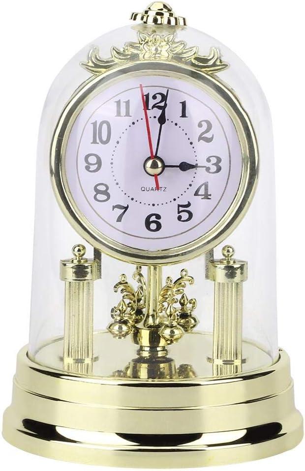 Relojes Sobremesa Escritorio Estilo Retro Europeo Que No Hacen Tictac Reloj Mesa Silencioso con Pilas Antiguo para Sala Estar Dormitorio Oficina Hogar DecoracióN Interior