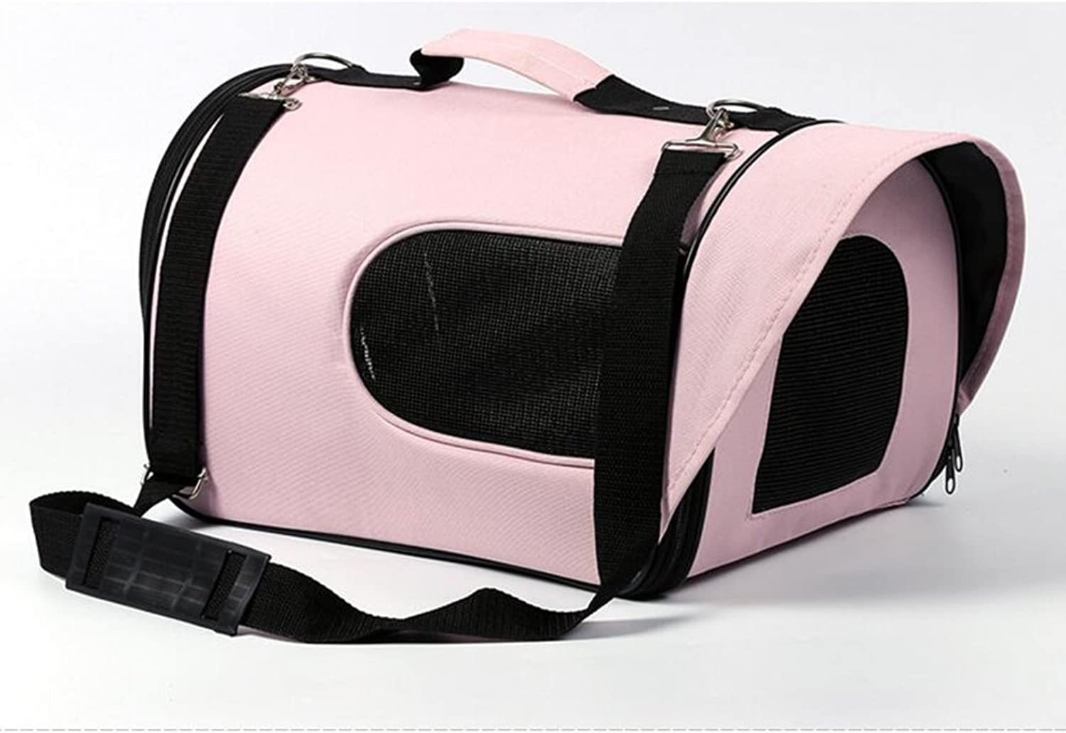 Backpacks YIXIN Cats and Dogs Pet Outdoors Package Oblique Bag Handbag Waterproof Oxford Cloth Easy To Carry Pink 4 (Size   M35  25  34CM)