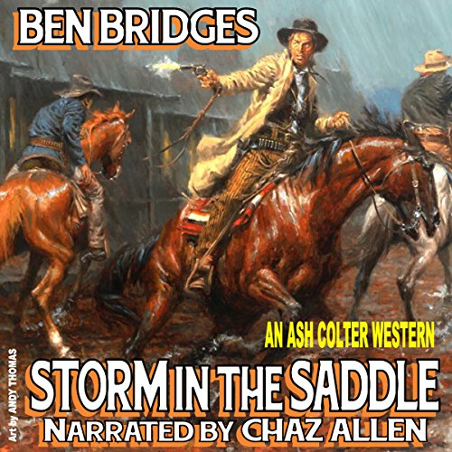 Storm in the Saddle audiobook cover art