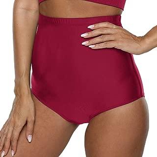 Firpearl Women's Bikini Bottom UPF 50+ Mid Waist Sport Swim Bikini Briefs Swimsuit