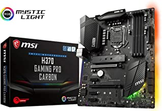 MSI Performance Gaming Intel Coffee Lake LGA 1151 DDR4 VR Ready Onboard Graphics CFX ATX Motherboard (H370 Gaming PRO Carbon)