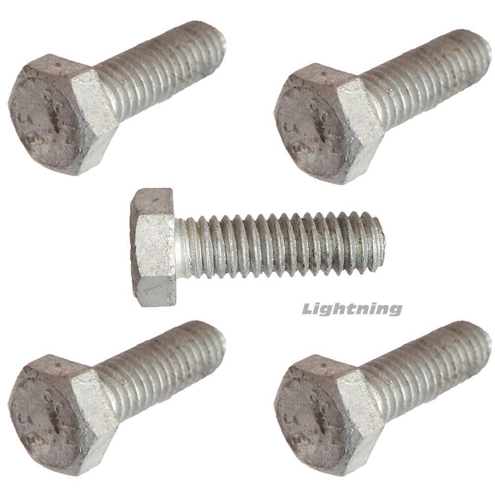 5 16-18 x 3-1 2 Hex Bolts Superlatite and Today's only Screws Cap Nuts Galvanized Dip Hot