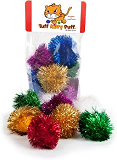 Tuff Kitty Puff Sparkle Ball Cat Toy - 12 Pak