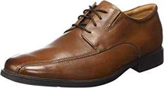 Clarks Tilden Walk Men's Dress Shoes, Dark TAN Leather G