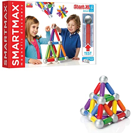 SmartMax Start XL (42 pcs) STEM Magnetic Discovery Building Set Featuring Safe, Extra-Strong, Oversized Building Pieces for Ages 3+