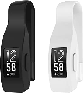 EEweca 2-Pack Clip for Fitbit Inspire or Inspire HR Holder Accessory, Black+White