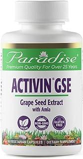 Paradise Herbs - ActiVin® Grape Seed Extract - Antioxidant + Vitamins E, C & Beta Carotene + Rejuvenator - 90 Count