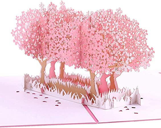 Wugakio Cherry Blossom Pop Up Card