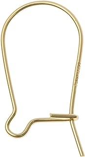 10 pcs 14k Gold Filled / 14k Rose Gold Filled Kidney Interchangeable Earwie Ear Wire Earring Hook