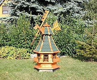 Decorativo Molinillo de viento con energía Solar verde Tipo