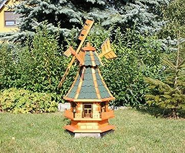 Decorativo Molinillo de viento con energía Solar verde Tipo 4