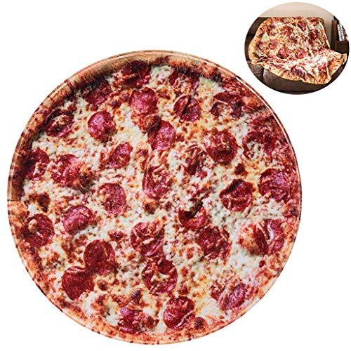 RAINBEAN Coperta della Pizza Coperta dell'involucro dell'alimento Coperta del Letto della Farina Coperta indossabile Comfort per Divano Peluche Taco in Flanella per Adulti e Bambini
