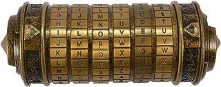 Blusea Da Vinci Valentine's Gift Box for Men Women, Cylinder Code Lock, Metal Cryptex Retro Home Decor