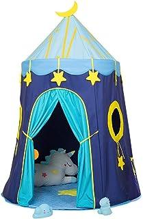 Teepee tält för barn/flicka lek tältleksaker för flickor/pojkar inomhus och utomhus, lekstugleksak barn Indien Tipi-tält, blå