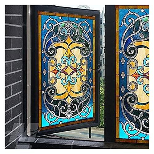 Etiqueta de la ventana de la ventana de la ventana Pegatina de vidrio de vidrieras opaco Etiqueta de vidrio decorativo autoadhesivo...