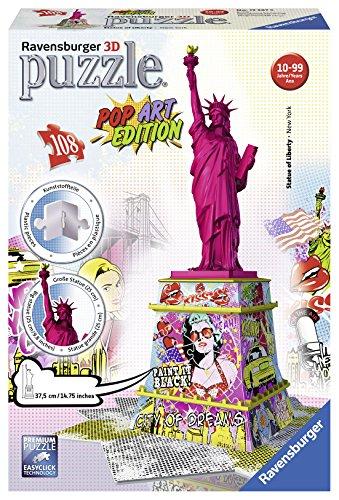 Ravensburger 12597 5 'Statue Of Liberty - Pop Art Edition 3D Puzzle (108-Piece)