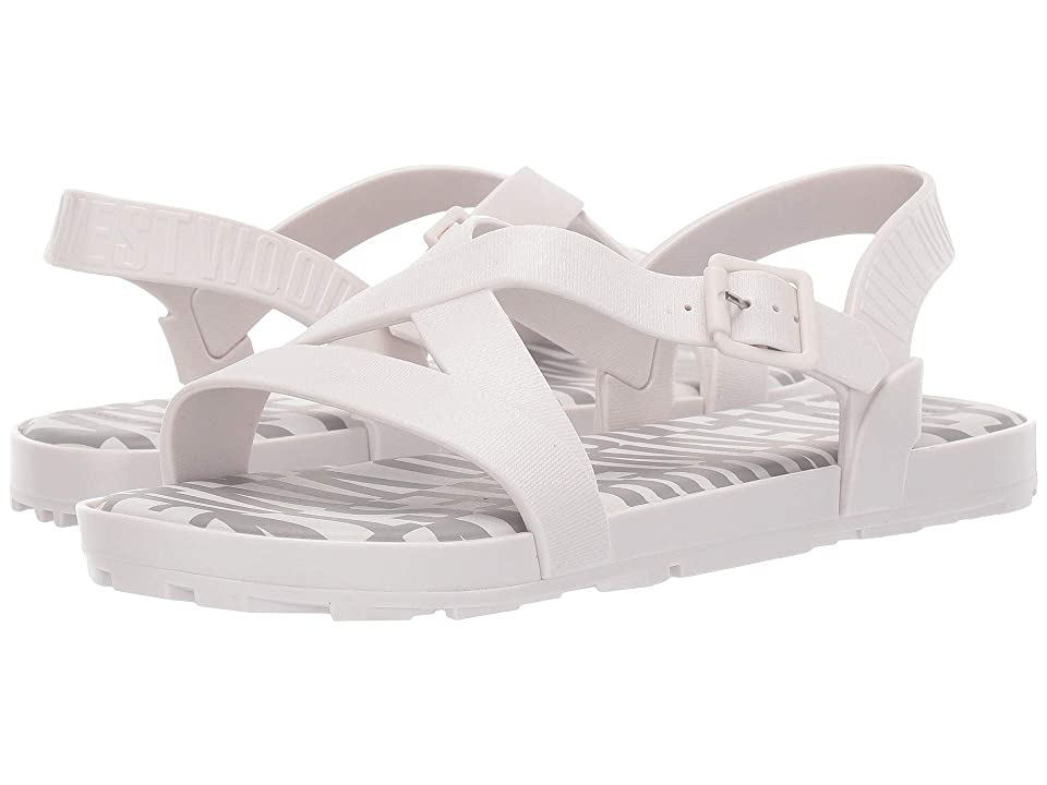 + Melissa Luxury Shoes Vivienne Westwood + Hermanos Flat Sandal (White/Grey) Women