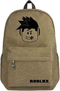 Roblox Large Capacity Canvas Student Bag Backpack