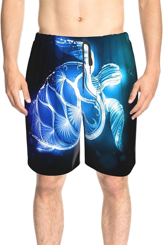 Men's Swim Shorts Sparkle Sea Turtle Beach Board Shorts Drawstring 3D Printed Summer Boardshorts with Mesh Lining