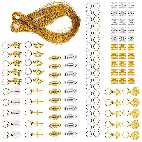 Bandas para el cabello Accesorios para rastas Clip de cuerda Dreadlocks Joyas, Trenzas Accesorios, Metal Para banquetes Desfiles de moda