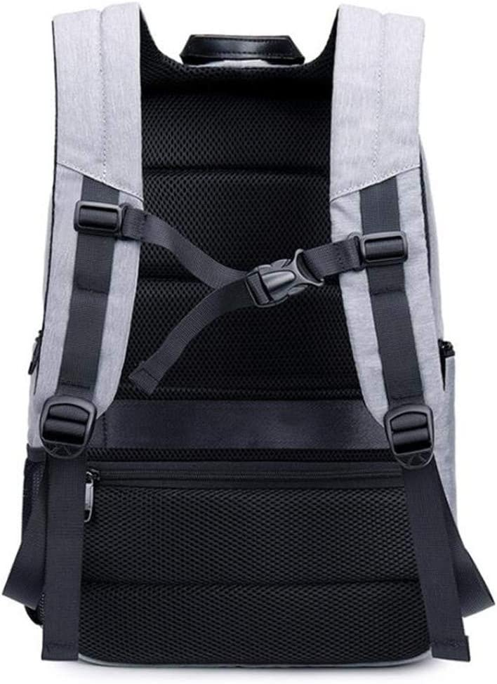 Grey Youngate Anti-theft Travel Backpack Business Laptop Bag With USB Charging Port