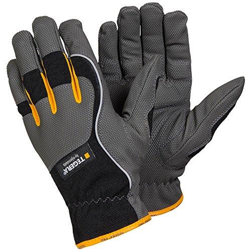 'ejendals Guanto'Tegera 9125in pelle sintetica, taglia 10, 1pezzi, grigio/nero/giallo, 9125–10