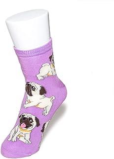 ペットラバーズ パグ レディース ソックス 靴下 犬柄 Pug Socks ペットとアニマルソックス SD-1001