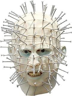 Alapaste Scary Pinhead Halloween Mask Creepy Mask Cosplay Resurrection Prosthetic Exorcist Adult Party