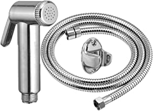 MLD Jaq Jet Health Faucet with 1 Meter S.S Tube and Wall Hook,Taflon,Screw (Pack of 1)