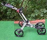 LEGEND Golftrolley Quad Fast Fold Trolley 4 Räder Silber