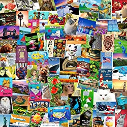 Image: POSTCARD SET of 50 cards. Postcard variety pack of a random assortment of 50 mixed postcards. Made in USA, by Postcard Fair