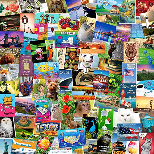 POSTCARD SET of 50 cards. Post card variety pack of random assortment of 50 mixed postcards. Made in USA.