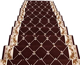 JIAJUAN Stair Carpet Treads Non-Slip Rubber Backing Floor Protector Stairs Tread Mats, 4 Styles, 2 Sizes, Customizable (Co...