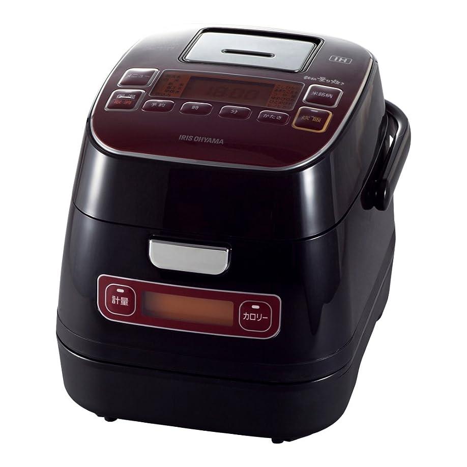 アイリスオーヤマ 炊飯器 IH 3合 銘柄量り炊き カロリー計算機能付き 米屋の旨み レッド RC-IA32-R