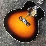 Chitarra Chitarra acustica con motivo a sunburst e guscio duro, chitarra classica di fascia alta, acero di...