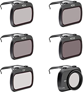 LouiseEvel215 6Pcs / Set Filtro de Lente de cámara ND4 / ND8 / ND16 / ND32 / MCUV/CPL Filtro de Lente cardán para dji Mavic Mini Drone Accesorios