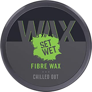 Set Wet Styling Fibre Hair Wax 60g, Strong Hold, Extra Volume, Natural Finish, Re-stylable Anytime, Easy wash off, No Para...
