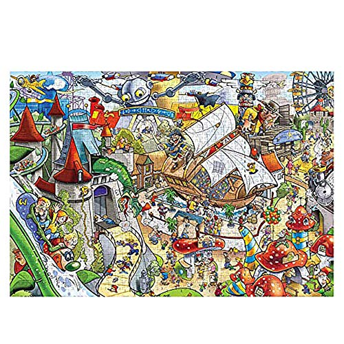 NIANMEI 1000 Piece The Amusement Park Theme Adult Children Wooden Puzzle Best Toy for Kid Christmas Pattern Jigsaw Puzzle New