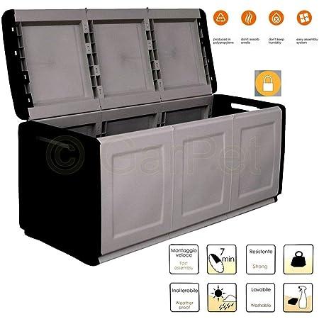 Garten Aufbewahrungsbox 330 L Terrasse Wasserdicht Auflagen Kissen Box Kiste Xxl Amazon De Garten