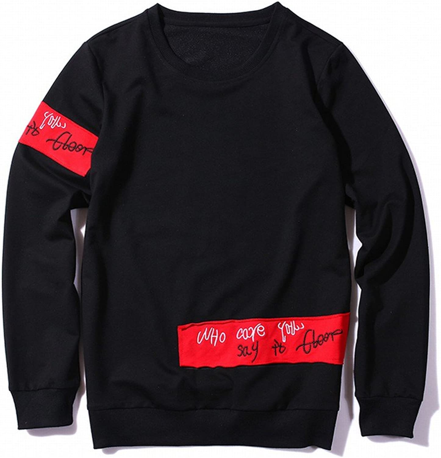 Autumn Men 'S Clothing Letters Printed Sweater LongSleeved TShirt