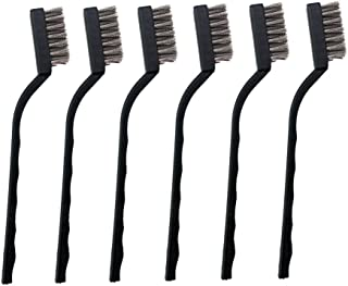 6 Pieces Mini Stainless Steel Wire Brush Set for Cleaning Welding Slag and Rust