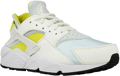 Nike - Wmns Air Huarache Run - 634835112 634835112 - Couleur  blanc-jaune - Taille  6.0  bonnes offres