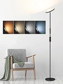 Lampadaire Anten LED SELENE | Lampadaire Salon dimmable en continu avec télécommande | Lampe 24W 2000 Lumen 2700~6500K a f...