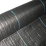 Masgard® Bâche de paillage tissée 100 g/m² noir différentes dimensions (2,00 m x 10,00 m = 20 m² (pliée))