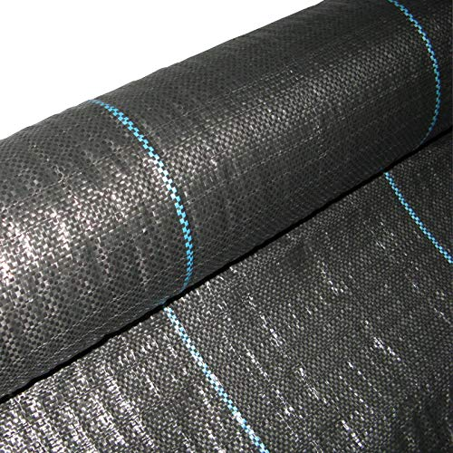 Masgard® Bâche de paillage tissée 100 g/m² noir différentes dimensions (1,00 m x 100,00 m = 100 m² (en rouleau))