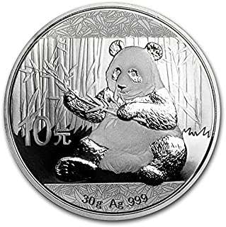 2017 CN Chinese Panda Silver Coin 30 Grams Silver Dollar Uncirculated Mint